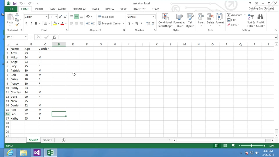How to call Web service in Excel using Visual Studio Tools
