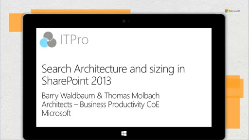 Search architecture and sizing in SharePoint 2013
