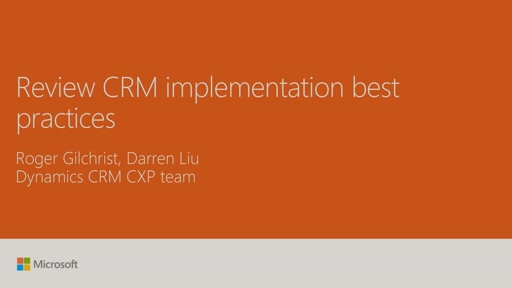 Review CRM implementation best practices