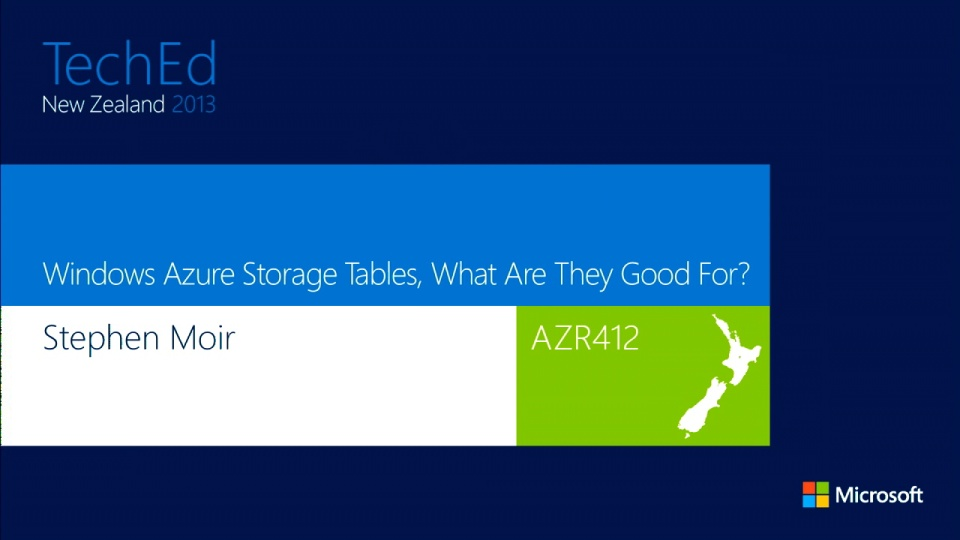 Windows Azure Storage Tables, What Are They Good For?