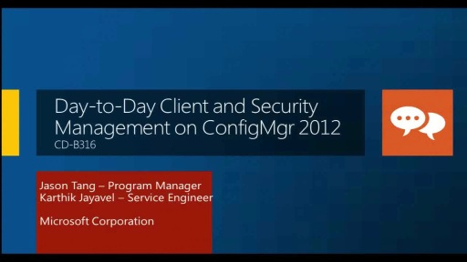 Day-to-Day Client and Security Management on Configuration Manager 2012
