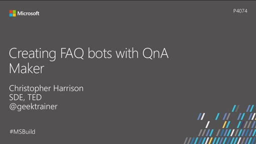 Creating FAQ bots with QnA Maker