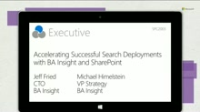 BA Insight: Accelerating Successful Search Deployments with BA Insight and SharePoint