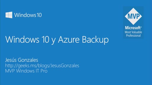 Windows 10 y Azure Backup