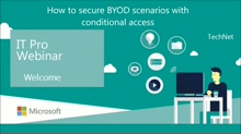 How to secure BYOD scenarios with conditional access
