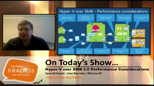 TechNet Radio: Hyper-V over SMB 3.0 Performance Considerations