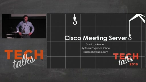Tech Talks 2016 Plantronics Stage Cisco Meeting Server