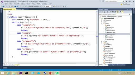 Introduction to jQuery: (03) Manipulating the DOM