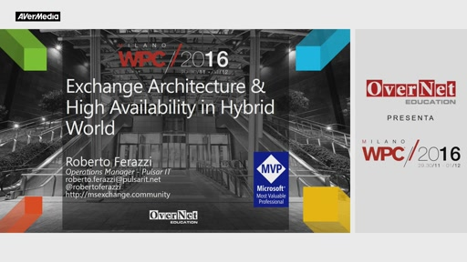 Exchange 2016 Architecture & High Availability