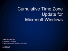 DST: Cumulative Time Zone Update for Microsoft Windows