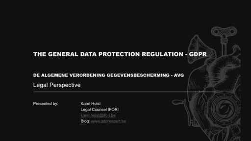 BE-COM2017-O365 What is GDPR and why do you care? (Karel Holst)