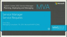 MVA: System Center Service Manager 2012: Service Requests
