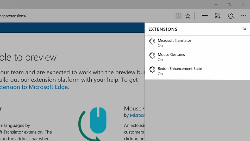 Step-By-Step: Enabling browser extensions in Edge