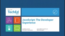 JavaScript: The Developer Experience