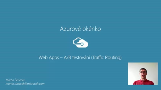 Azurové okénko - Web Traffic Routing