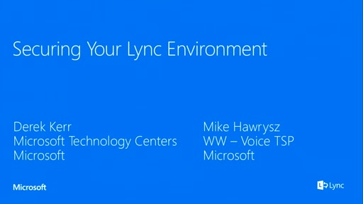 Securing your Lync environment