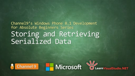 Part 22 - Storing and Retrieving Serialized Data