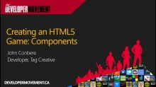 Creating an HTML5 Game: Components