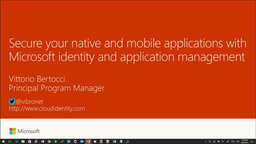 Secure your native and mobile applications with Microsoft identity and application management_x000D_
