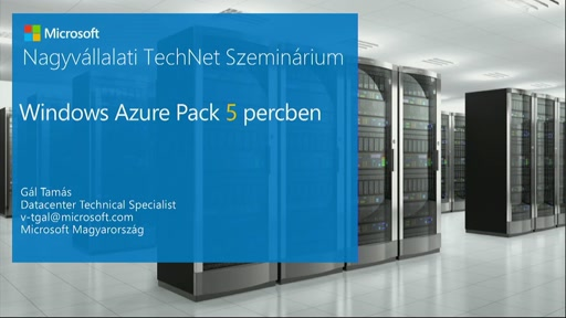 Windows Azure Pack 5 percben