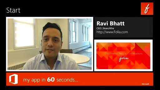 my app in 60 seconds: Folia