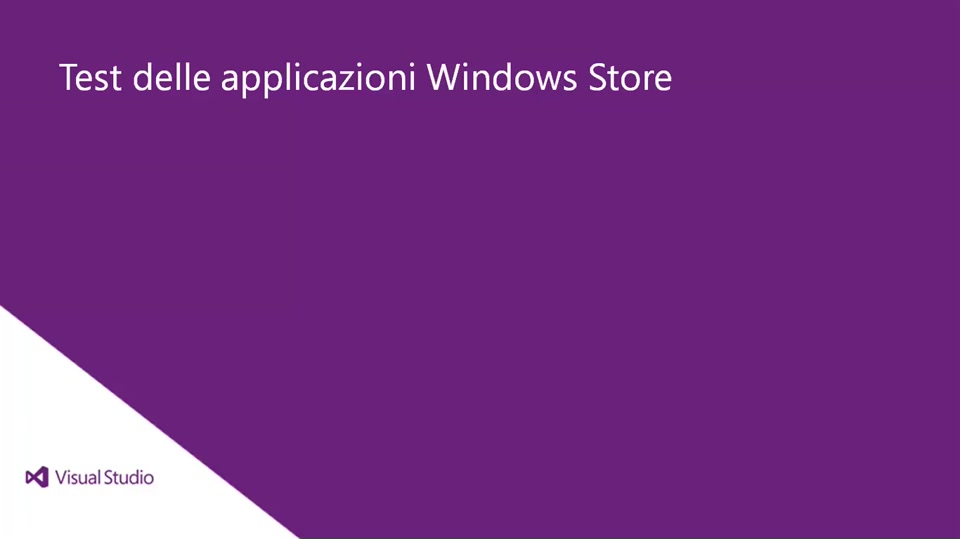 Visual Studio 2013 Ultimate: Test delle applicazioni Windows Store