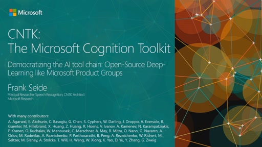 CNTK: Microsoft's Open Source Deep Learning Toolkit