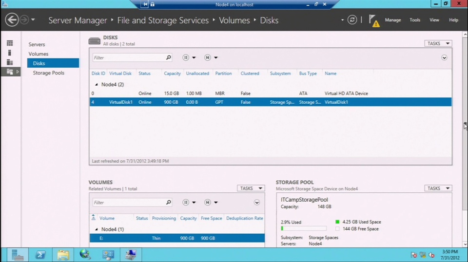 DEMO: Storage Spaces and Thin Provisioning