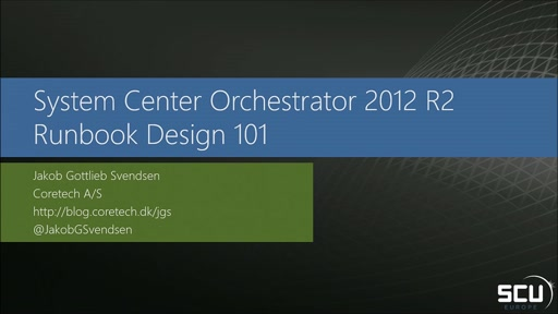 System Center Orchestrator - Runbook Design 101