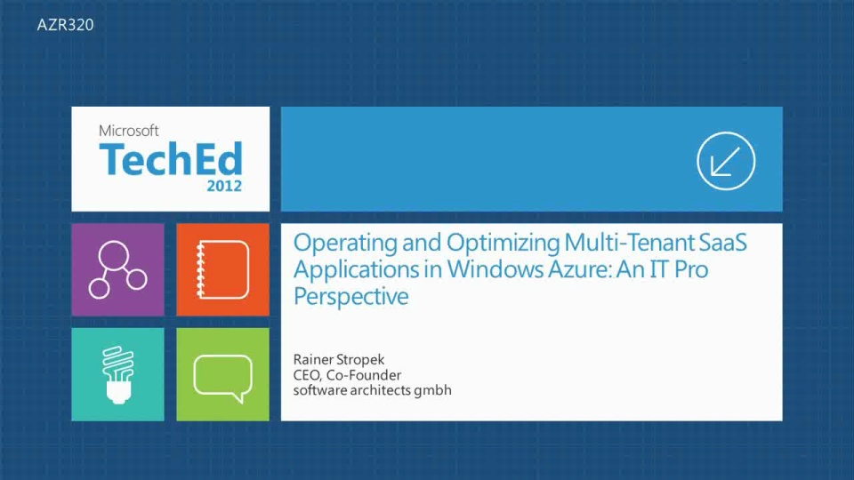 Operating and Optimizing Multi-Tenant SaaS Applications in Windows Azure: An IT Pro Perspective