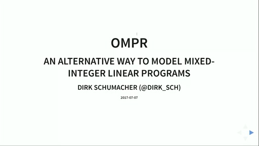 ompr: an alternative way to model mixed-integer linear programs