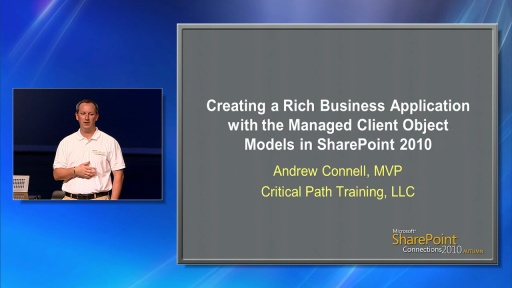 Creating a Rich Business Application with the Managed Client Object Models in SharePoint 2010 by Andrew Connell