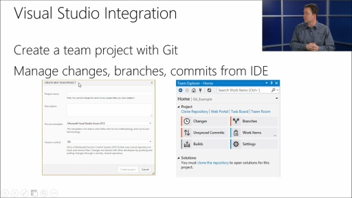 Using Git with Visual Studio 2013: (05) Git in Visual Studio