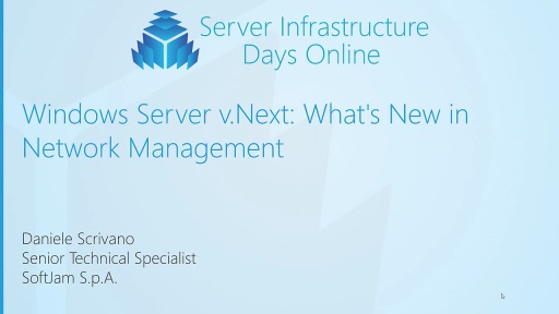 Windows Server v.Next: What's New in Networking