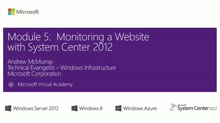 (Module 5) Monitoring a Website with System Center 2012
