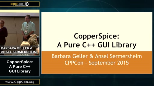 CopperSpice: A Pure C++ GUI Library
