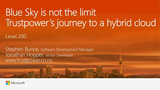 Blue Sky is not the limit for Trustpower:  Our journey to hybrid cloud