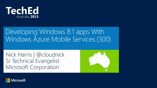 Building Real World Windows 8.1 Apps with Mobile Services: Deep Dive