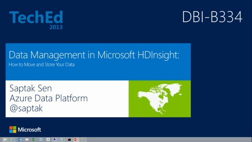 Data Management in Microsoft HDInsight: How to Move and Store Your Data