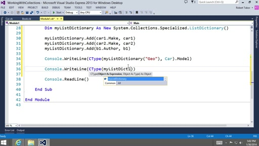 Visual Basic Fundamentals for Absolute Beginners: (22) Working with Collections