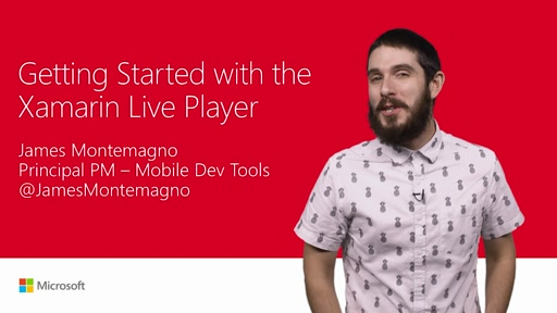 Get started with Xamarin Live Player