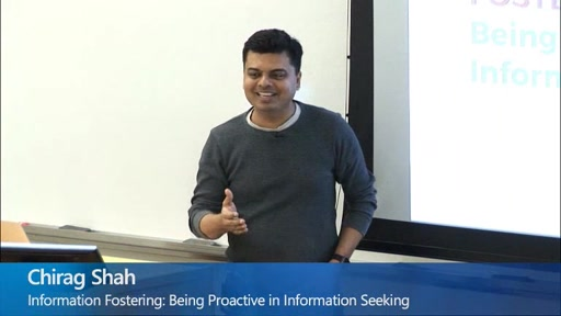 Information Fostering: Being Proactive in Information Seeking
