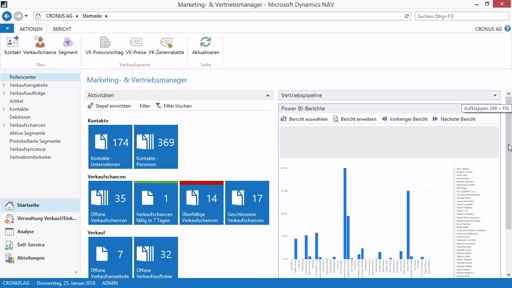 Learn4NAV: Dynamics NAV 2017 - Power BI CRM Dashboard aktivieren