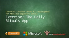 Part 26 - Exercise: The Daily Rituals App