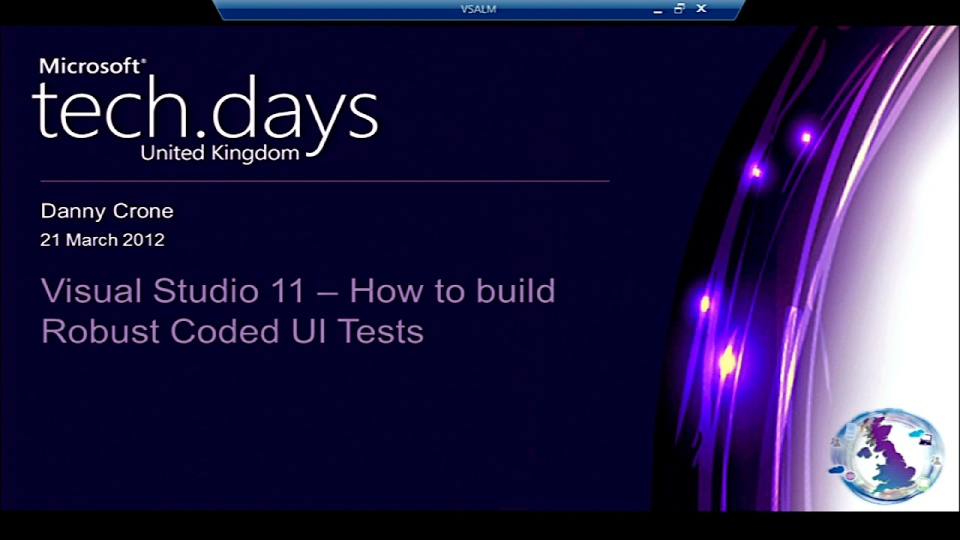 Visual Studio 11 How to Build Robust Coded UI Tests