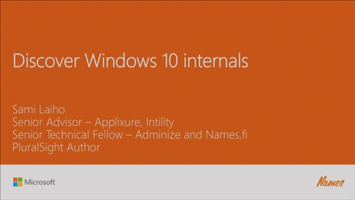 Discover Windows 10 Internals