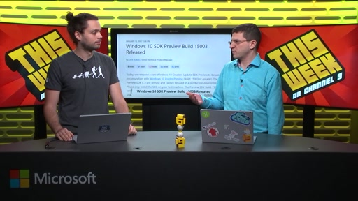 TWC9: New PIX, NuGet UWPDesktop, VSTS Getting Personal, Kinect Powered Grocery Store and more...