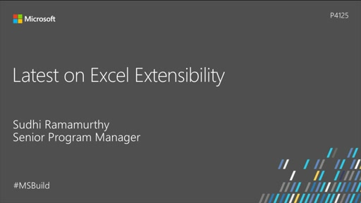 Latest on Excel Extensibility