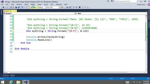 Visual Basic Fundamentals for Absolute Beginners: (13) Working with Strings