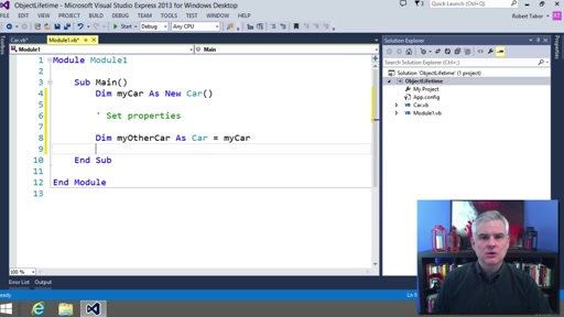 Visual Basic Fundamentals for Absolute Beginners: (16) More about Classes and Methods